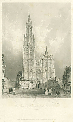 Постер West Front of Cathedral of Notre Dame, Antwerp
