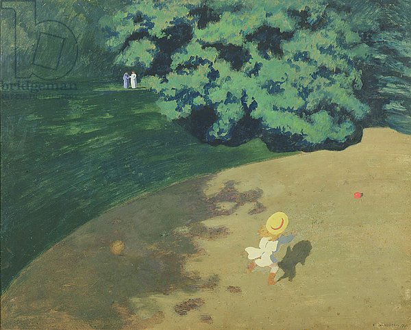 The Balloon or Corner of a Park with a Child Playing with a Balloon, 1899