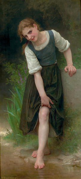 Постер Бугеро Вильям (Adolphe-William Bouguereau) Le gue