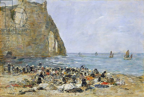 Washerwomen on the beach of Etretat, 1894