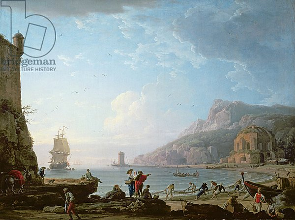 Morning scene in a bay, 1752