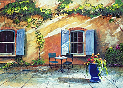 Постер Нил Тревор (совр) Shuttered Windows, Provence, France, 1999