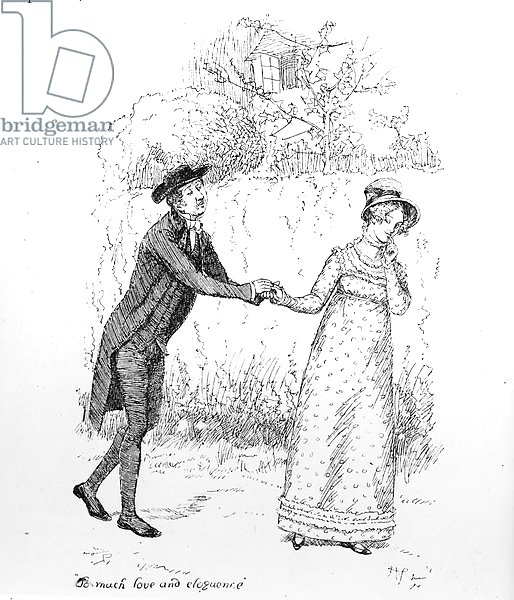 'So much love and eloquence', illustration from 'Pride & Prejudice' by Jane Austen