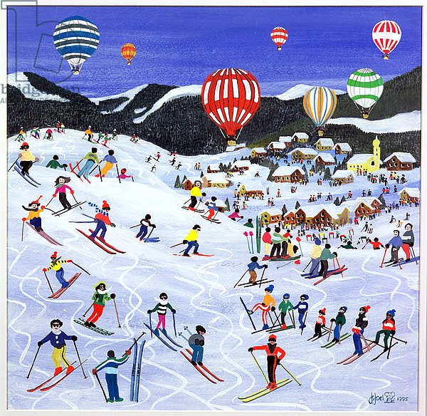 Ballooning over the piste, 1995