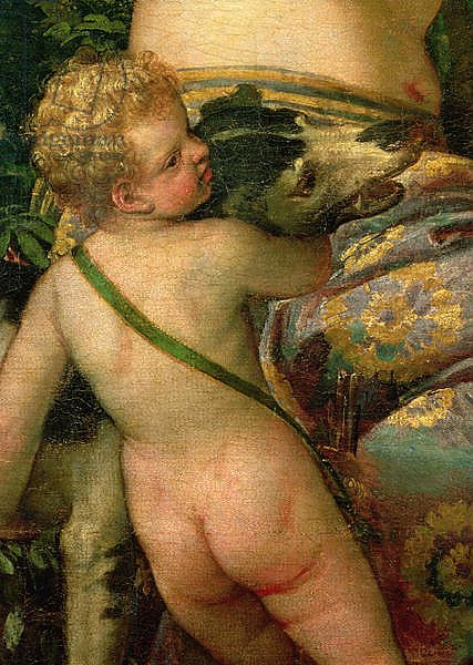 Cupid, detail from Venus and Adonis, 1580