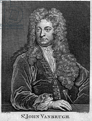 Постер Кнеллер Годфри, Сэр Sir John Vanbrugh, engraved by Thomas Chambars