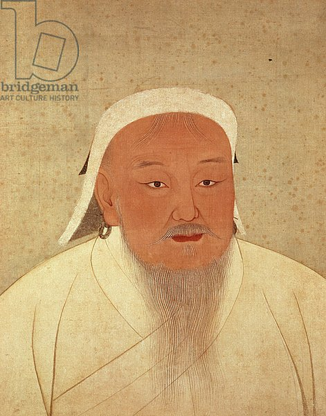 Portrait of Genghis Khan, Mongol Khan, founder of the Imperial Dynasty