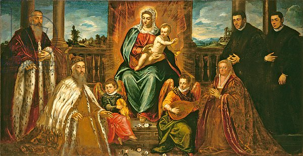 Doge Alvise Mocenigo and Family before the Madonna and Child, c.1573