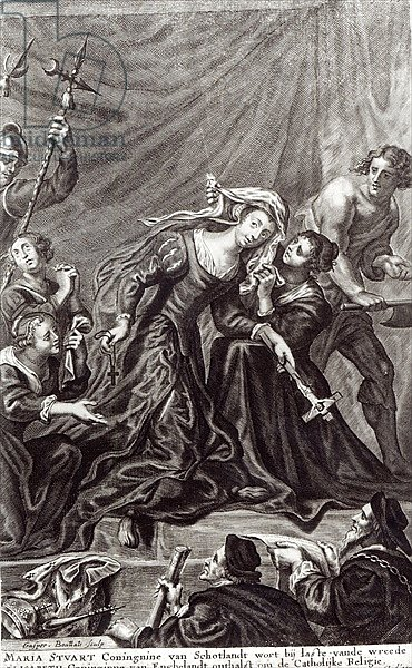 The Execution of Mary, Queen of Scots, 8th February 1587, engraving by Gaspar Boutatts