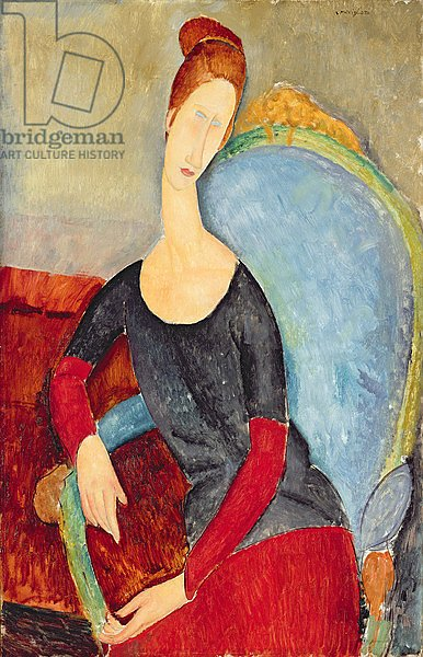 Mme Hebuterne in a Blue Chair, 1918