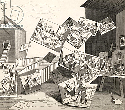 Постер Хогарт Уильям The Battle of the Pictures, from 'The Works of Hogarth', published 1833