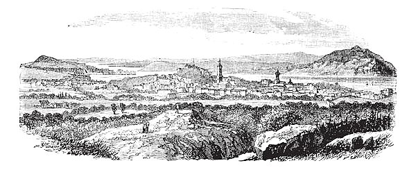 Gothenburg in Sweden vintage engraving