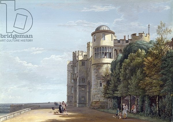 The North Terrace, Windsor Castle, looking East