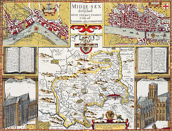 Midle-sex described with the most famous cities of London and Westminster, 1611-12