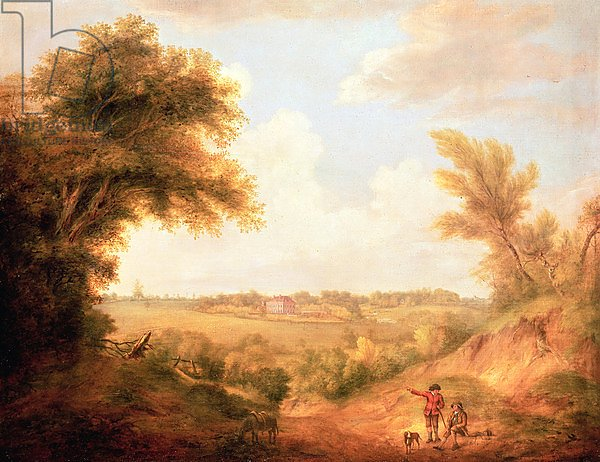 Landscape with house, 18th century