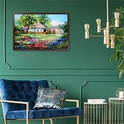 «Деревенский дом» в интерьере в классическом стиле в светлых тонах