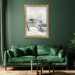 «Зима. 1873» в интерьере в классическом стиле в синих тонах