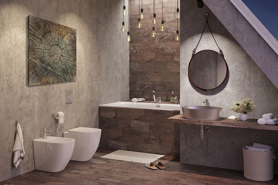 картины и постеры в интерьере ванной в стиле лофт лучшие фото