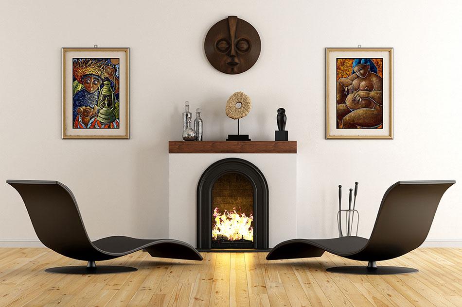 Постеры с каминами