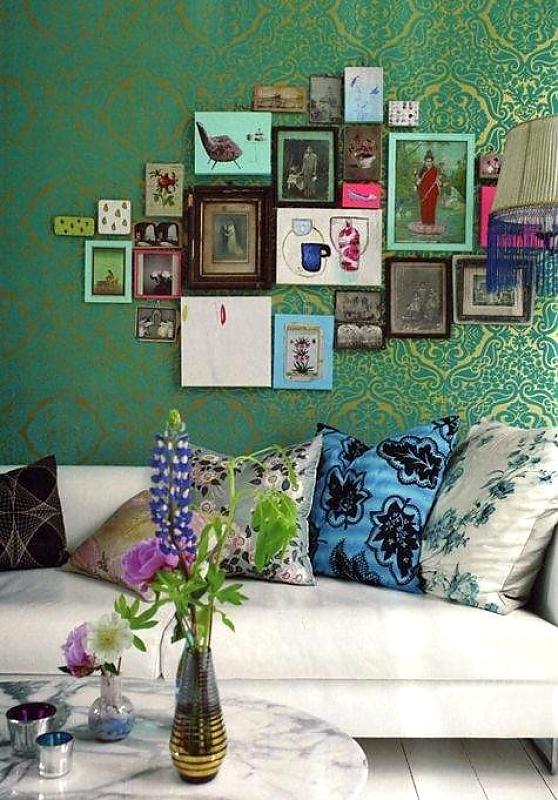 группирование картин apartmenttherapy