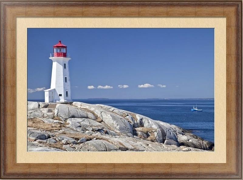 постер море с маяком вершины открывается