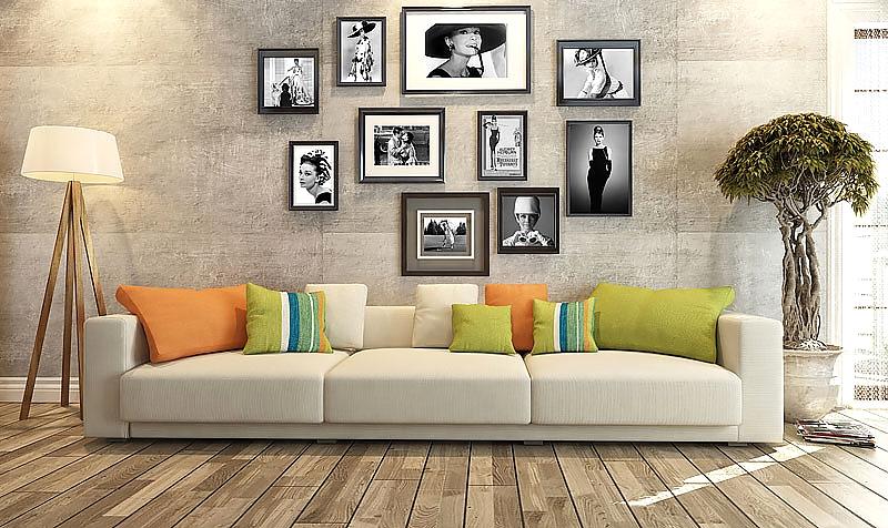 черно белые картины для интерьера