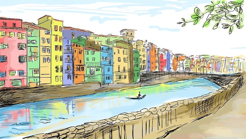 Зарисовки европейских городов 3