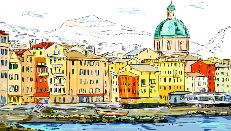 Зарисовки европейских городов 5