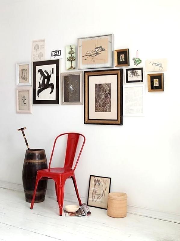 композиция из картин apartmenttherapy