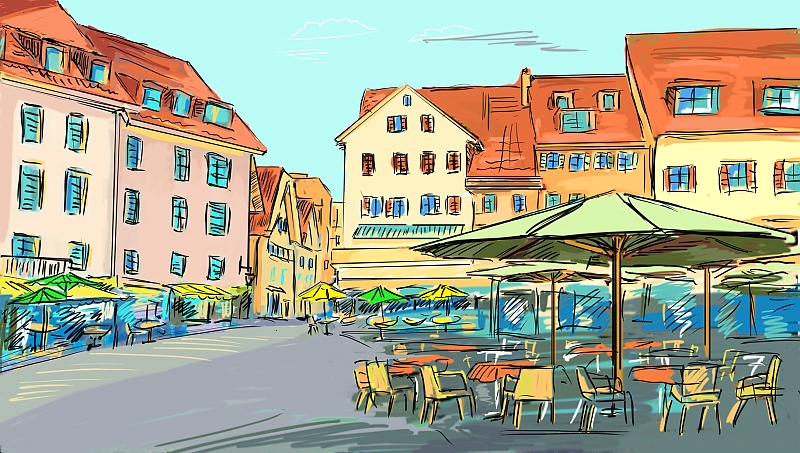 Зарисовки европейских городов 2