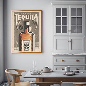 Постеры в стиле ретро для кухни или столовой