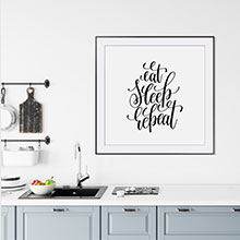 Постеры в скандинавском стиле для кухни или столовой
