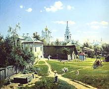 Картина Московский дворик в подарок на день города