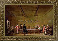 Постер Шарден Жан-Батист A Game of Billiards, c.1720-26