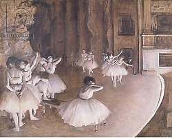 Постер Дега Эдгар (Edgar Degas) Ballet Rehearsal on the Stage, 1874