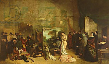 Постер Курбе Гюстав (Gustave Courbet) The Studio of the Painter, a Real Allegory, 1855 4