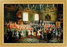 Постер Ланкре Никола Bed of Justice Held in the Parliament at the Majority of Louis XV, 22nd February 1723