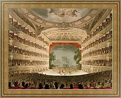 Постер Роуландсон Томас Kings Theatre Opera House, engraved by J. Bluck, pub. by Ackermann's 'Repository of Arts'