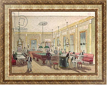 Постер Школа: Французская The Billiard Room in a Cafe