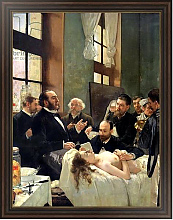 Постер Джервекс Уильям Before the Operation, or Doctor Pean teaching at Saint-Louis hospital, 1887