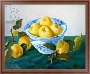 Картина в раме Apples in a Blue Bowl, 2014