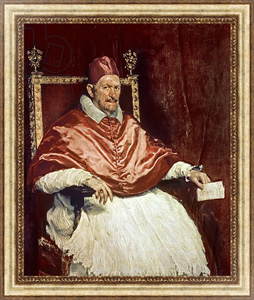 Картина в раме Portrait of Pope Innocent X, 1650
