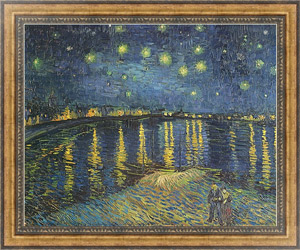 Постер Starry Night over the Rhone, 1888
