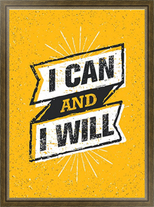 Постер I Can And I Will