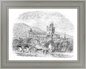 Постер-гравюра Jedburgh Abbey in Scotland vintage engraving