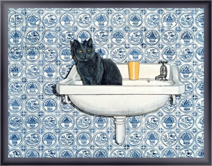 Картина для интерьера My Bathroom Cat