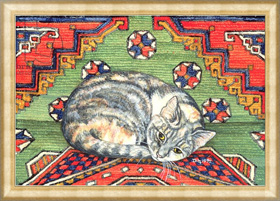 Картина в раме Third Carpet-Cat-Patch