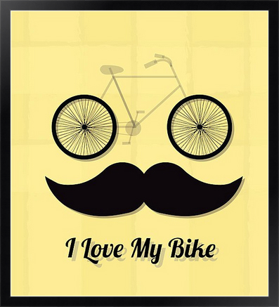 Постер I love my bike на холсте в раме