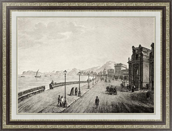 Картина Palermo promenade, Sicily, The original engraving, created by B. Rosaspina, may be dated to the firs