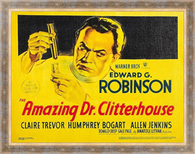 Ретро постер Poster - Amazing Dr. Clitterhouse, The